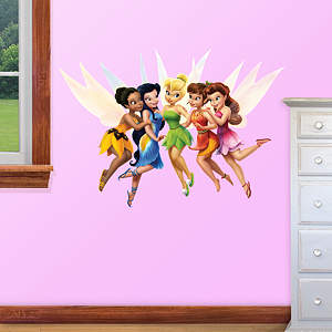 Small Disney Fairies Fathead Vinyl Wall Decal Collection
